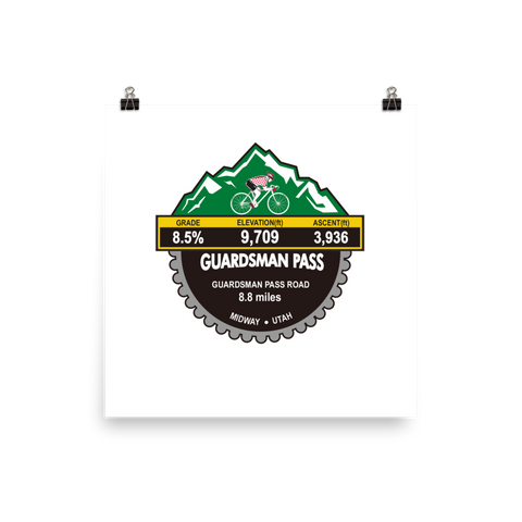 Guardsman Pass - Midway, UT Photo Paper Poster