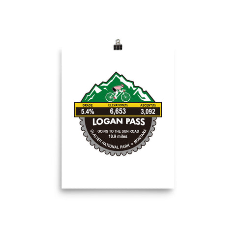 Logan Pass - Glacier National Park, MT Photo paper poster