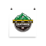 Deathride 2018, CA - Photo paper poster