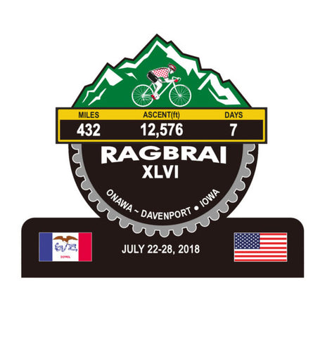 RAGBRAI XLVI/2018, IOWA - TROPHIES