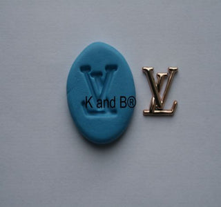 LV designer logo Cupcake Topper mould - Kitchen and Baking