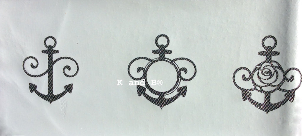 Anchor, nautical cake decorating mesh stencil - Kitchen and Baking