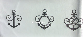 Anchor, nautical cake decorating mesh stencil