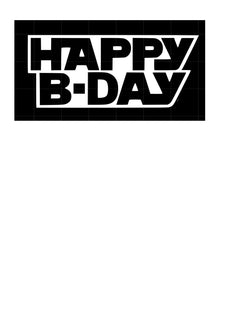 Comic style happy birthday mesh cake decorating stencil