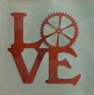 Steampunk word love cake decorating mesh stencil - Kitchen and Baking