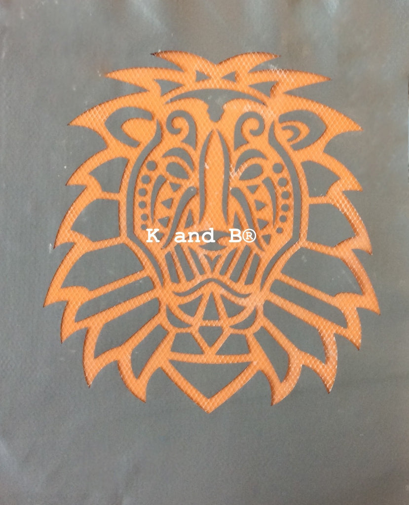 Tribal Lion  cake decorating mesh stencil - Kitchen and Baking