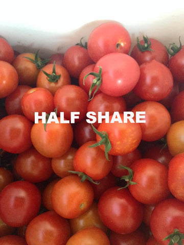 Summer Veggie HALF Share 2018 - in-season signup request available - membership required - begins week of June 19 for 14 weeks - 7 pickups
