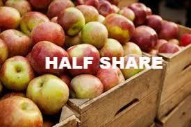 Fall Fruit HALF Share - 2020 membership required - begins week of September 27 for 4 pickups