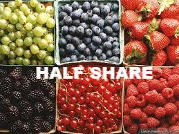 Summer Fruit HALF Share 2018 - in-season signup request available - membership required - begins week of June 19 for 14 weeks - 7 pickups