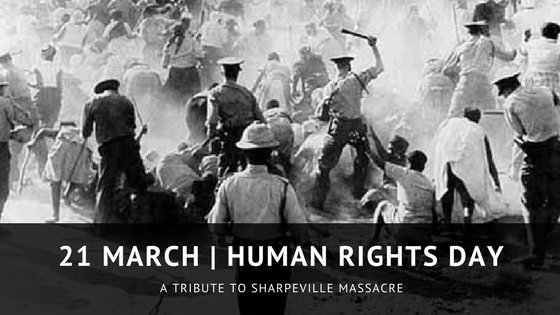 Paying Tribute To Sharpeville Massacre - Human Rights Day, 21 March 2018