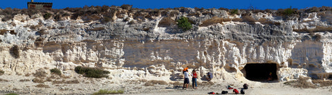 Limestone Quarry on Robben Island, Cape Town
