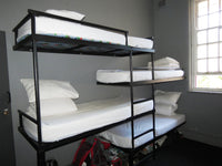 Budget 8 bed mixed dorm accommodation at Riverlodge Backpackers in Cape Town, South Africa