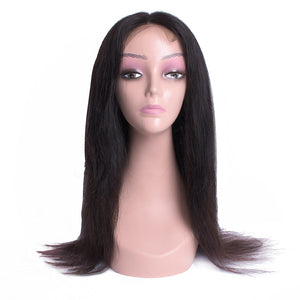 Iverem Mongolian Straight Lace Frontal Human Hair Wig