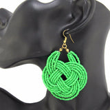 Binta African Woman Afrocentric Wooden Earrings Africa Ethnic Tribal Boho Jewelry
