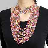Balinda African Beads Jewelry Bead Statement Necklace Nigerian wedding Ghana wedding