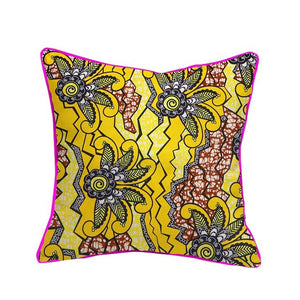 Chinny African Tribal Zulu Ethnic Cushion Cover Portrait Print 18x18inches
