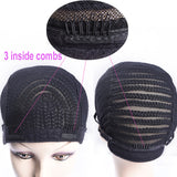 Simbi Cornrow Wig Cap Braided Crochet Cap Cornrow Wig with adjustable band & combs 1 piece