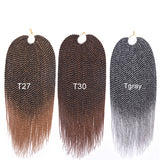 "Aida 22"" Senegalese twist Crochet Hair Extensions 30 roots  0.5cm/Strand Medium size"