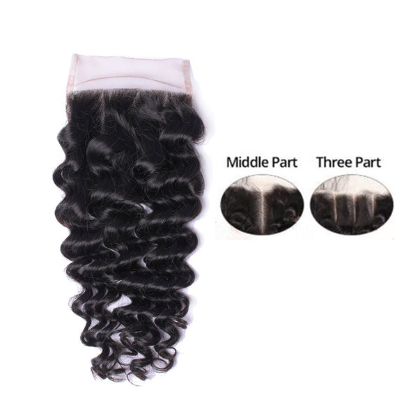 Arese 4*4 Lace Closure 100% Human Hair Straight, Deep & Body Wave 8-20 Inches Weaving Wigs Braids DIY Hair