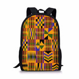 Dzifa African Print School Bags for Adults Teenagers Kids Backpack Students
