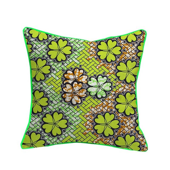 Tolu Cushion Cover African Wax Cotton Fabric Handmade Decorative Throw Pillow Case Covers African Printed Cushion Case Home Arts