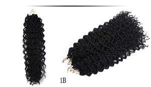 Amoy Curly Wavy Goddess Faux Locs Crochet Hair Extensions 24 strands