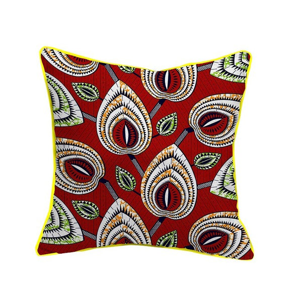 Oma African Wax Cotton Fabric Handmade Decorative Pillow Case Covers African Printed Cushion Case Home Arts