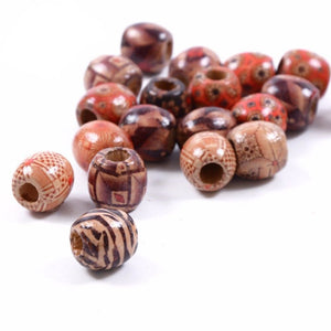 Amara 10pcs Dreadlock Wooden Hair Beads Braiding Tube rings Hair Accessories