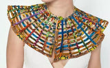 Miata Multi Coloured Multistrand African Print Statement Necklace One size