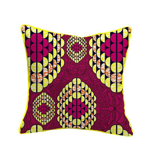 Nene African Wax Cotton Fabric Handmade Decorative Throw Pillow Case Covers African Printed Cushion Case Home Arts