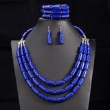 Niana African Beads Jewellery Set Bead Statement Necklace Earrings Nigerian wedding Ghana wedding