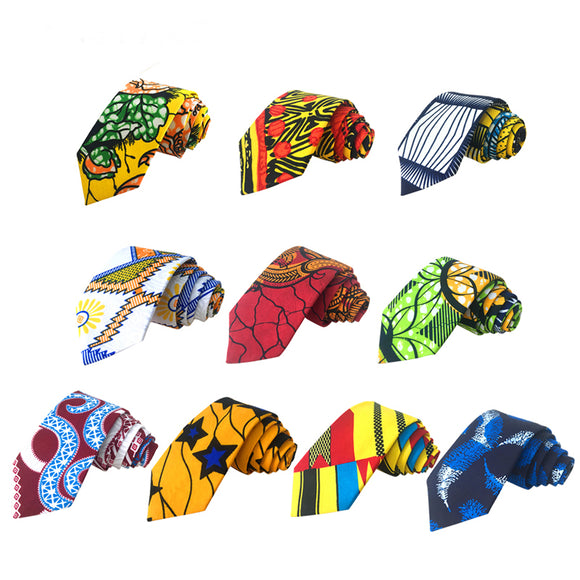 Uthayi Slim Ties African Print Neckties Wedding Business Groomsmen