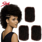 Sleek Remy Human Hair Bulk No Attachment Mongolian Afro Kinky Curly Wave Bulk For Braiding