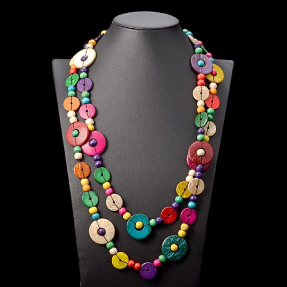 Becky African Beads Jewelry Bead necklace Statement Necklace Nigerian wedding Ghana wedding