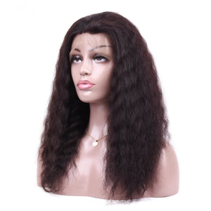 Lishan Wig Deep Wave 360 Full Lace Human Hair Wig Free Part Malaysia Remy Hair Natural Curly Hairline