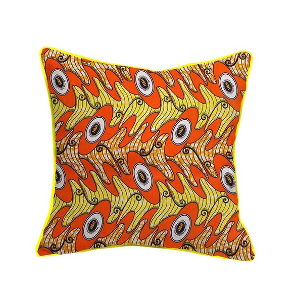 Hawa African Wax Cotton Fabric Handmade Decorative Pillow Case Covers African Printed Cushion Case Home Arts