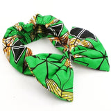 Kene Handmade Ladies Girls African Print Bowknot Headband with Stretchy Elastic One Size