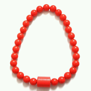 New Ladies Men Red coral bead necklace African jewelry Size-Large African wedding