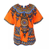 New Unisex African Ankara Tee shirt size One Size