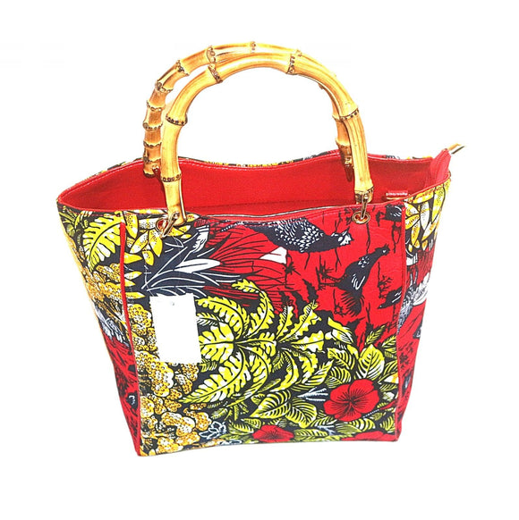 New African Ankara Tales by Moonlight Fabric Ladies Tote Bag 46-47