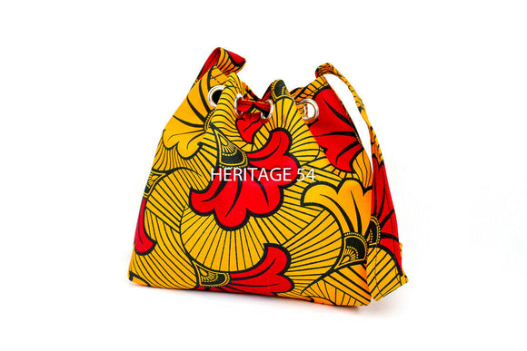 Daba Handmade African Small Bucket Bag Ankara Wax Print Ladies Girls Accessories