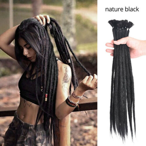Dreadlocks Extension 24 Inch 10 Strands Handmade Dreads Synthetic Dreadlocks Crochet Braiding Hair Soft Faux Locs Fashion Reggae Hair