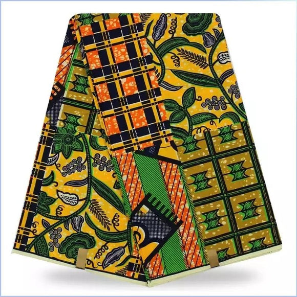 Diweni African Wax Print polyester Ankara Fabric African Print Fabric Real Dutch Hollandais Per yard