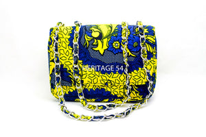 Nene Handmade African Small Chain Shoulder Bag Ankara Print Ladies Accessories