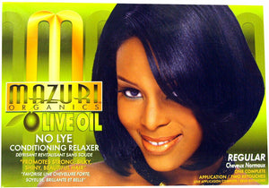 Mazuri Olive Oil No Lye Conditioning Relaxer Regular Super Kit African Hair Care