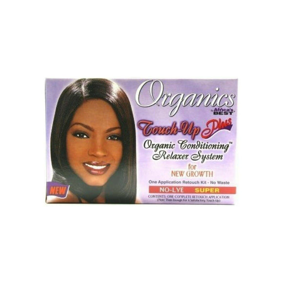 Organics Africa's Best Touch-Up Plus No Lye Relaxer Kit Regular Super Hair Growth