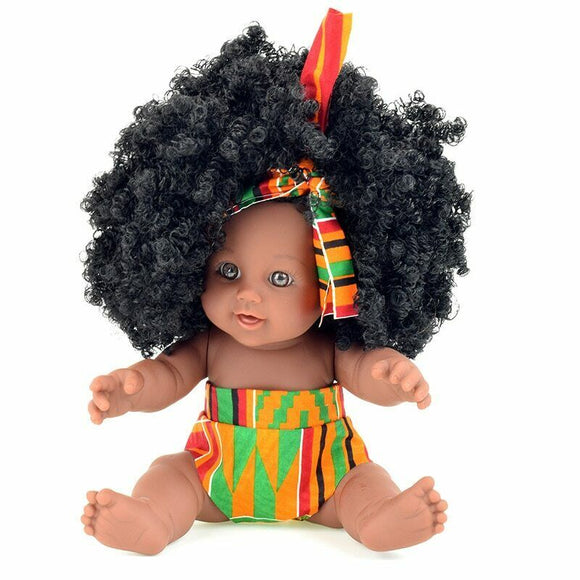 Anatomically Correct Black Dark Skin Doll Ethnic African Baby Doll