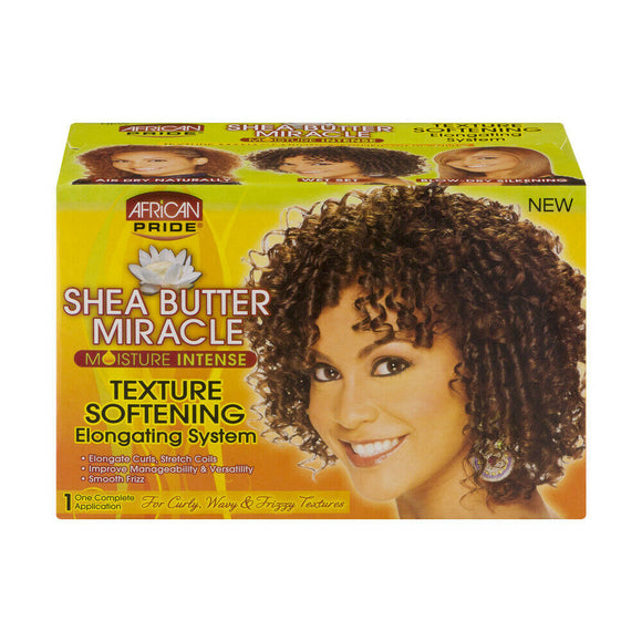 African Pride Shea Butter Miracle Texture Softening Elongating System Texturizer - NORMAL
