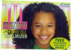 Mazuri Kids Organics Olive Oil Texturizer Kit Regular Afro African Kinky Hair - Regular