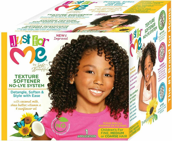 Just For Me Kids Hair Relaxer NO-LYE REGULAR SUPER TEXTURE SOFTENER TEXTURIZER